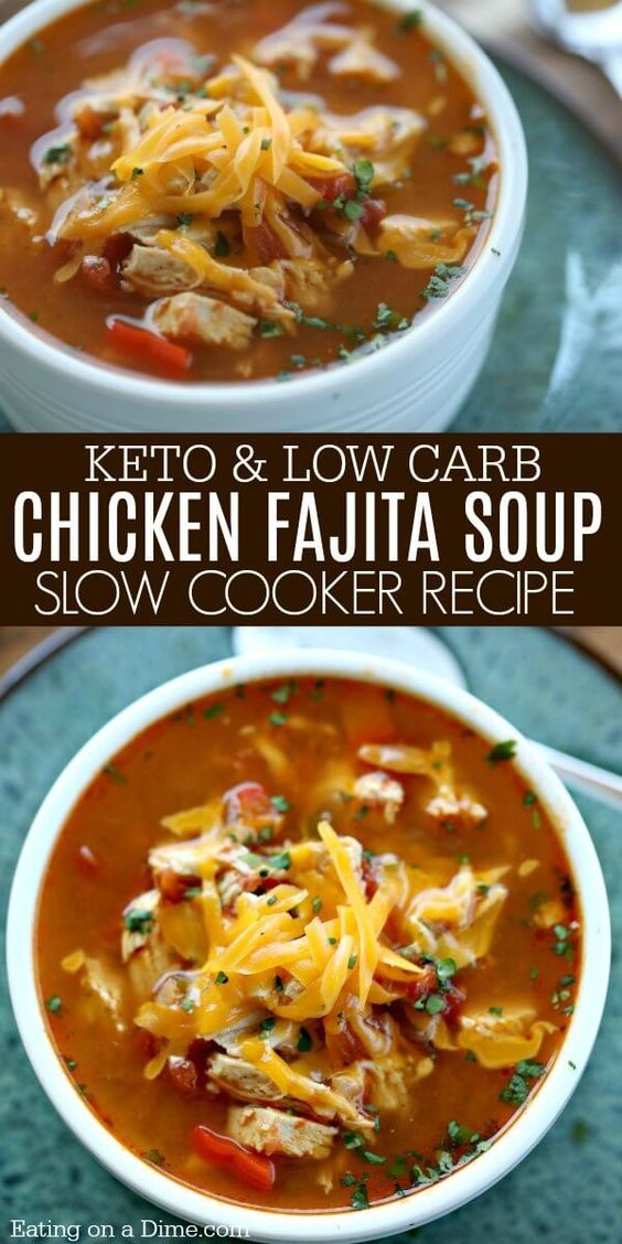 Crock Pot Chicken Fajita Soup is easy to make and tasty. The entire family will enjoy this Low Carb Crock Pot Chicken Fajita Soup recipe. You must try it!