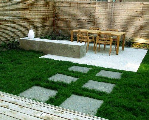 Bentuk Taman Minimalis Belakang Rumah Sederhana Modern