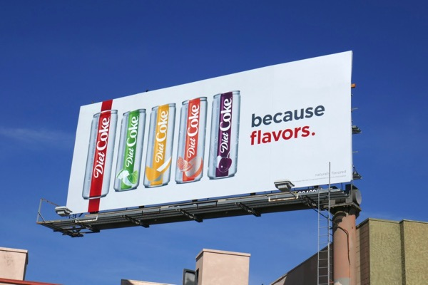 Diet Coke flavors billboard