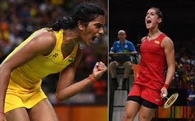 Badminton PV Sindhu vs Carolina Olympics Final Match @ Rio Olympics 2016