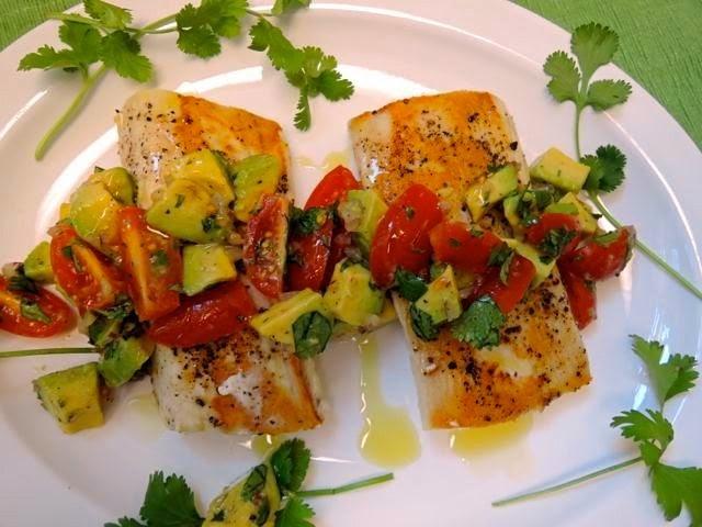 The briny lemon pan seared wahoo with tomato avocado relish for Wahoo fish recipes