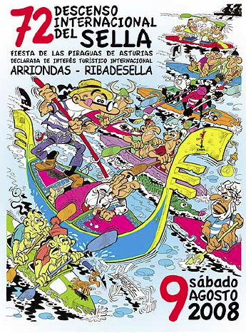 Cartel del 72 Descenso Internacional del Sella, piraguas 2008