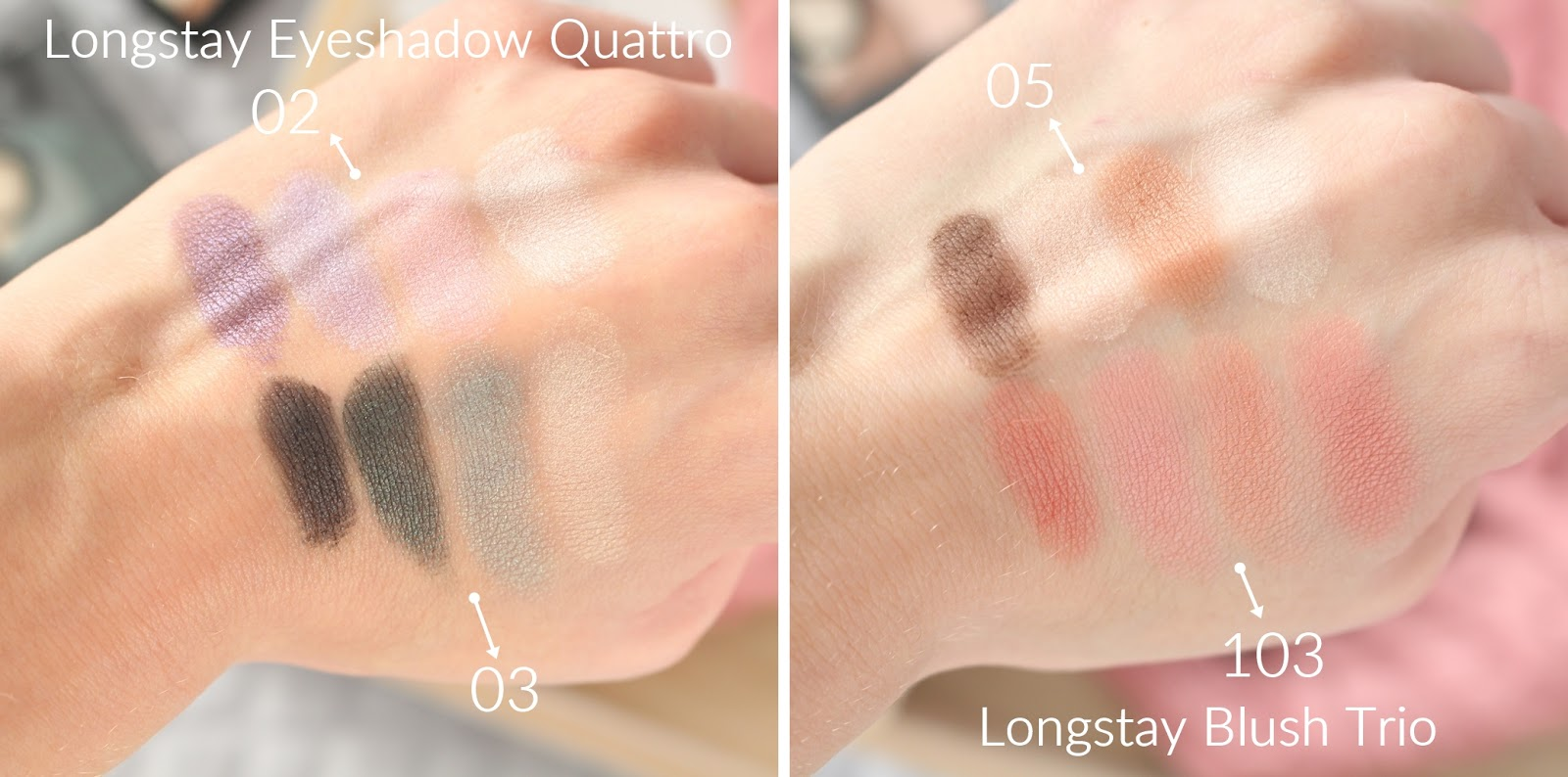 golden-rose-eyeshadow-quattro-blush-trio-swatche