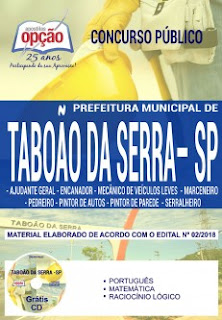 Baixar Apostila Concurso Taboão da Serra 2018 PDF Grátis