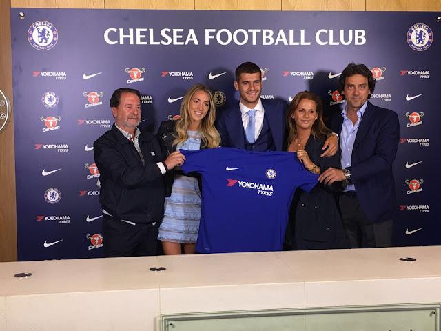 Morata es presentado oficialmente en el Chelsea