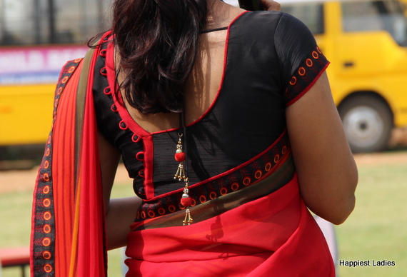 silk saree blouse ideas