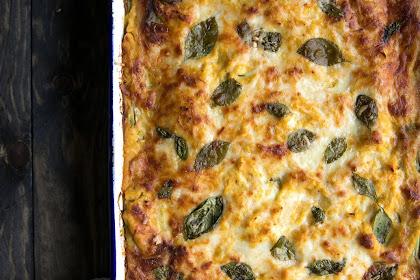 Butternut Squash, Zucchini and Spinach Lasagna