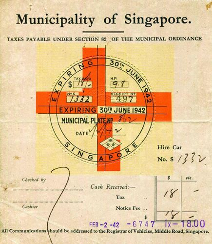 Singapore Road Tax
