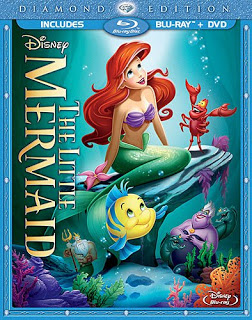 The Little Mermaid Blu-ray cover filmprincesses.blogspot.com
