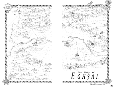 Map of the Valley of Eghsal