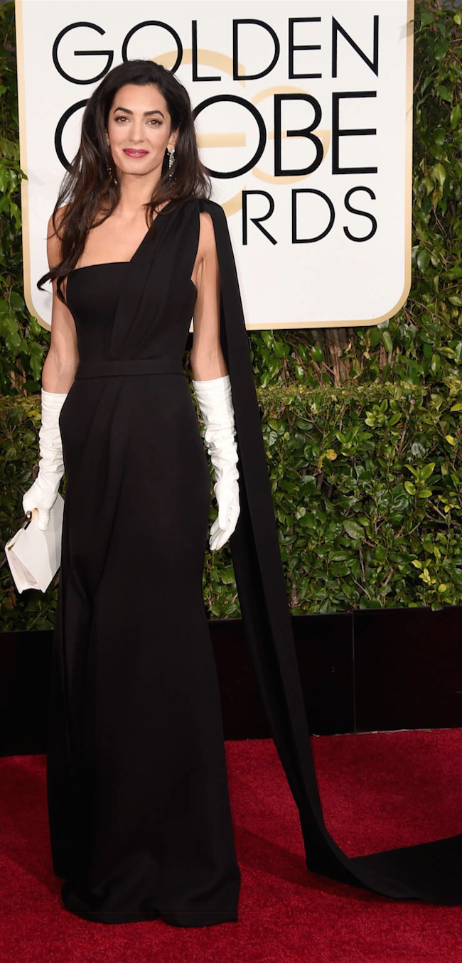 Amal Clooney 2015 Golden Globe Awards