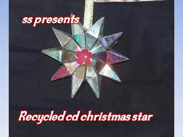 Here is Images for cd crafts,cd craft wall hanging, best out of waste cd,Images for cd earrings,Images for cd jewelry designs, Images for recycled cd jewelry tutorial,jewelry made from old cds,how to make christmas star with recycled cd's