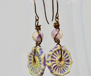 Light purple earrings by BayMoonDesign