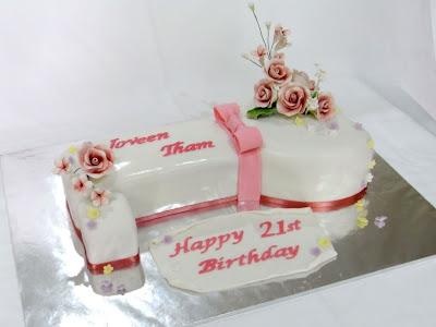St Birthday Cakes Key Shape