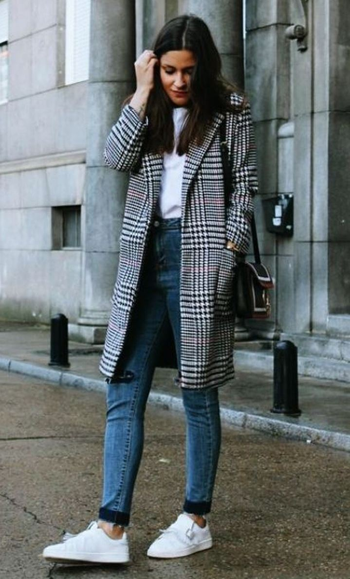 Cute Fall Outfit with Sneakers 2018