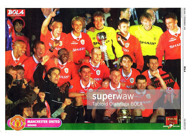POSTER MANCHESTER UNITED 1999