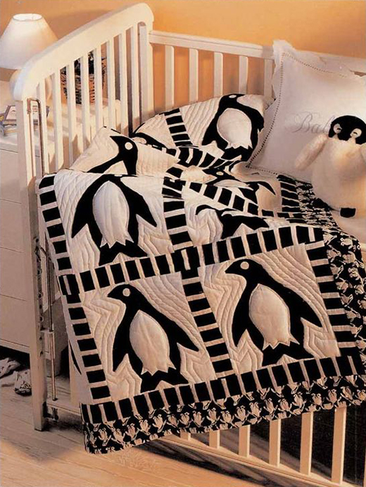 Penguin Frolic Baby Quilt Free Pattern