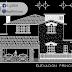 مخطط مشروع مسكن عائلي دوبلكس بتصميم مميز اوتوكاد dwg