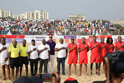 Gov Ambode, D'banj And Other Stars At Opening Ceremony Of Copa Lagos. Pics