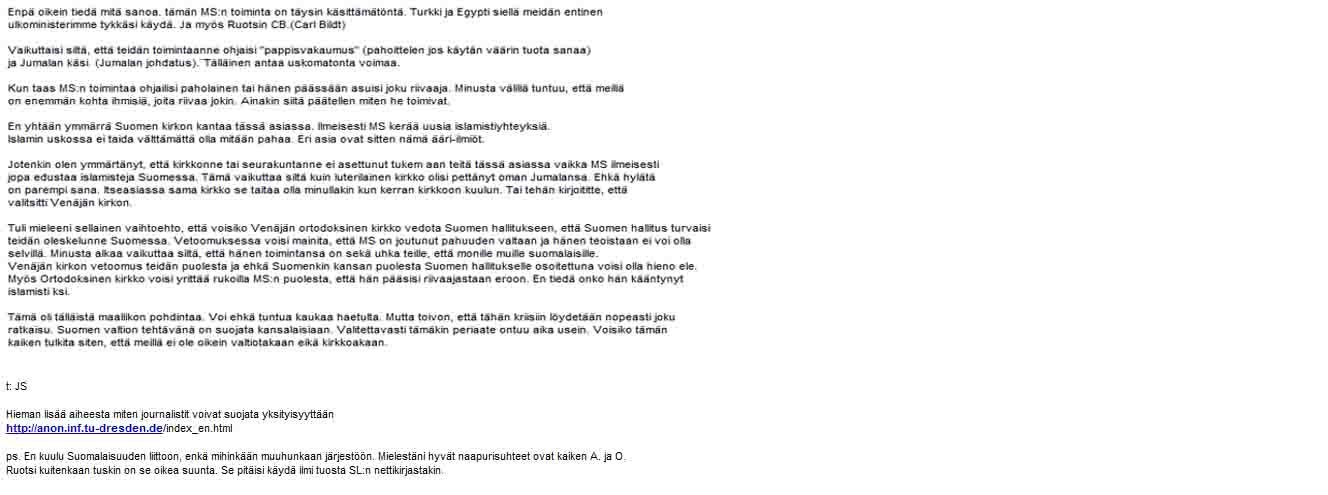 sähköpostin kirjoittaminen ruotsi