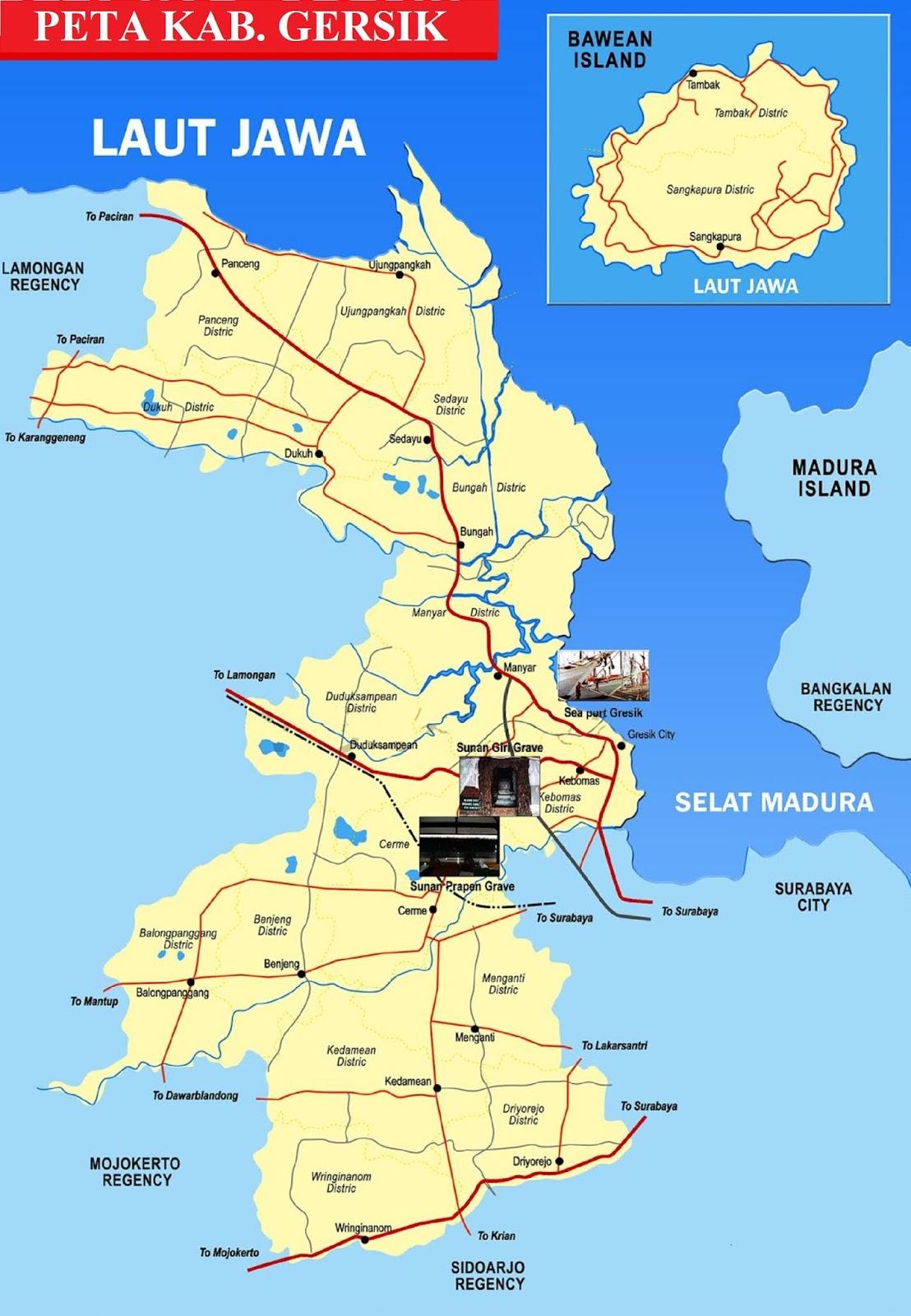 Peta Kabupaten Gresik HD