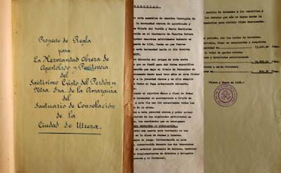 La hermandad de los Muchachos de Consolación de Utrera recupera el primitivo proyecto de sus reglas gracias a la Guardia Civil