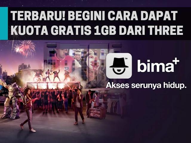 Cara Mendapatkan Kuota 1GB Gratis Tri Terbaru 2018