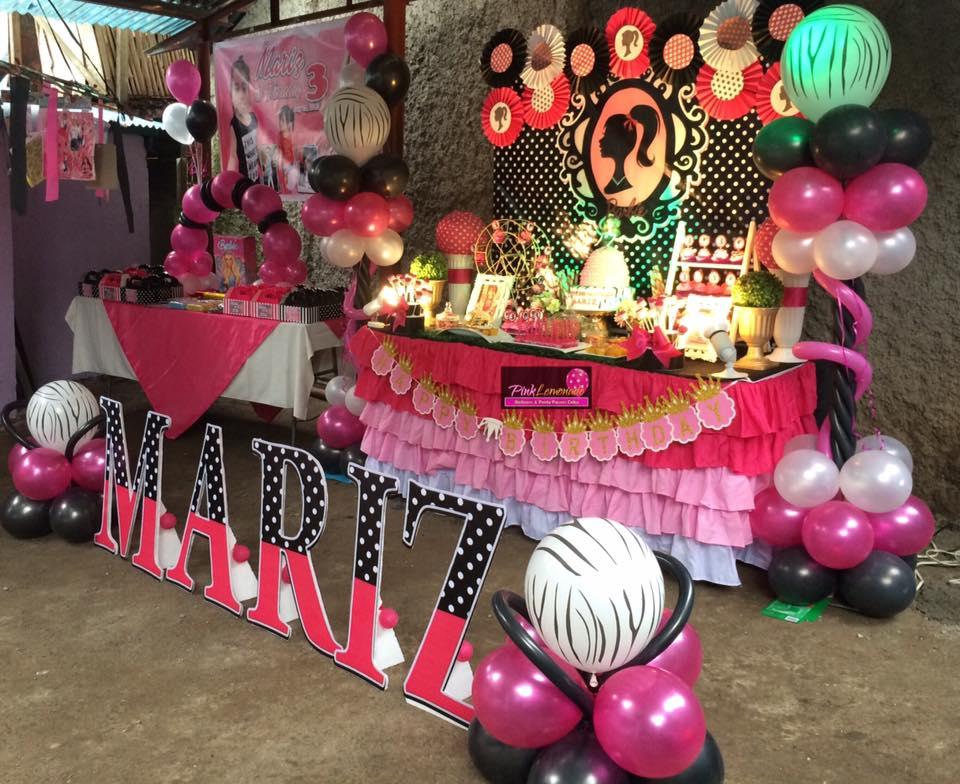 Pink Lemonade Balloons And Party Favors Cebu Barbie