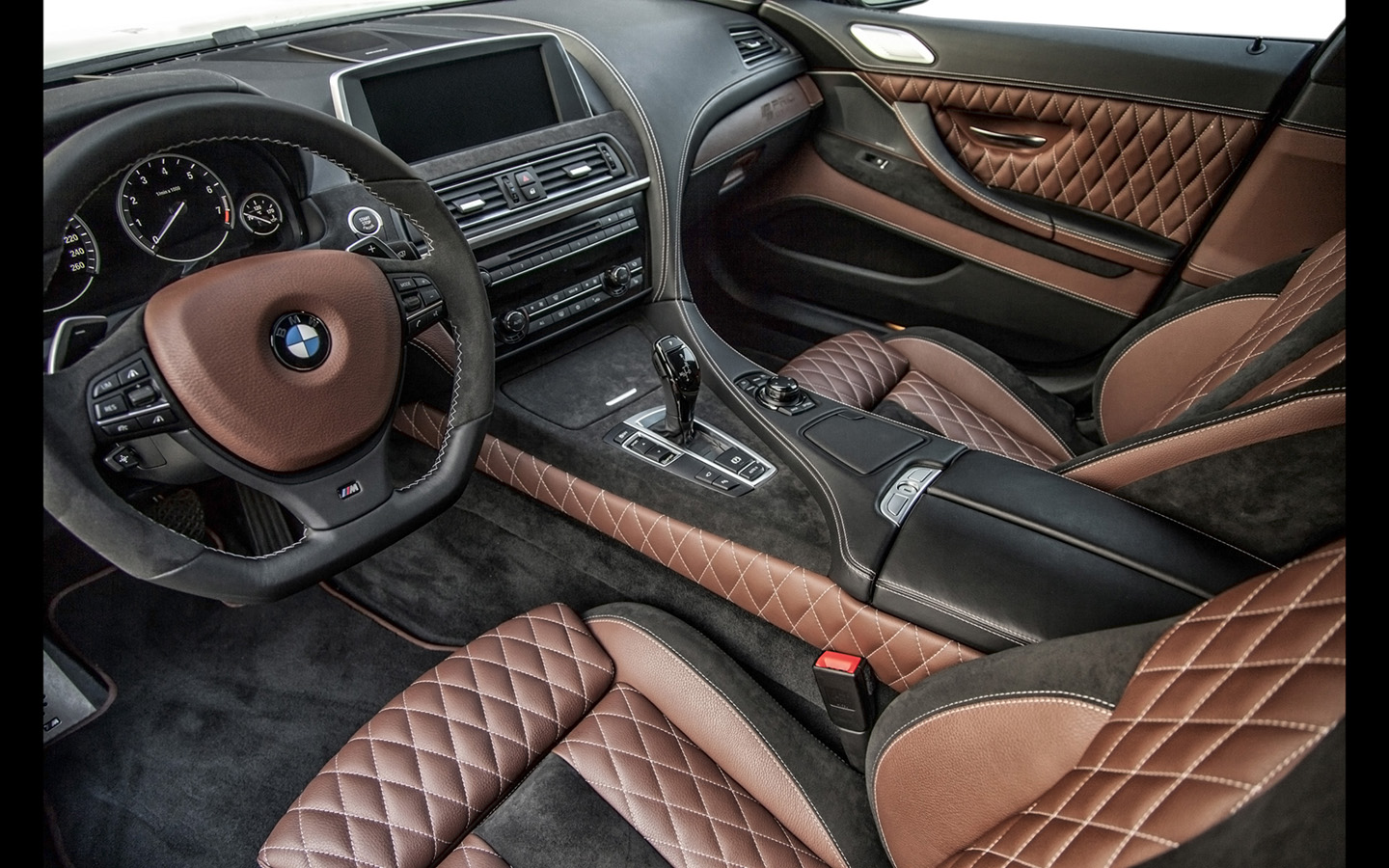 BMW Sedanu0027s Interior Design And Leather And Wood Style Were Built By  Bulgarian Artisans With Custom Wooden Touch Panels, ...