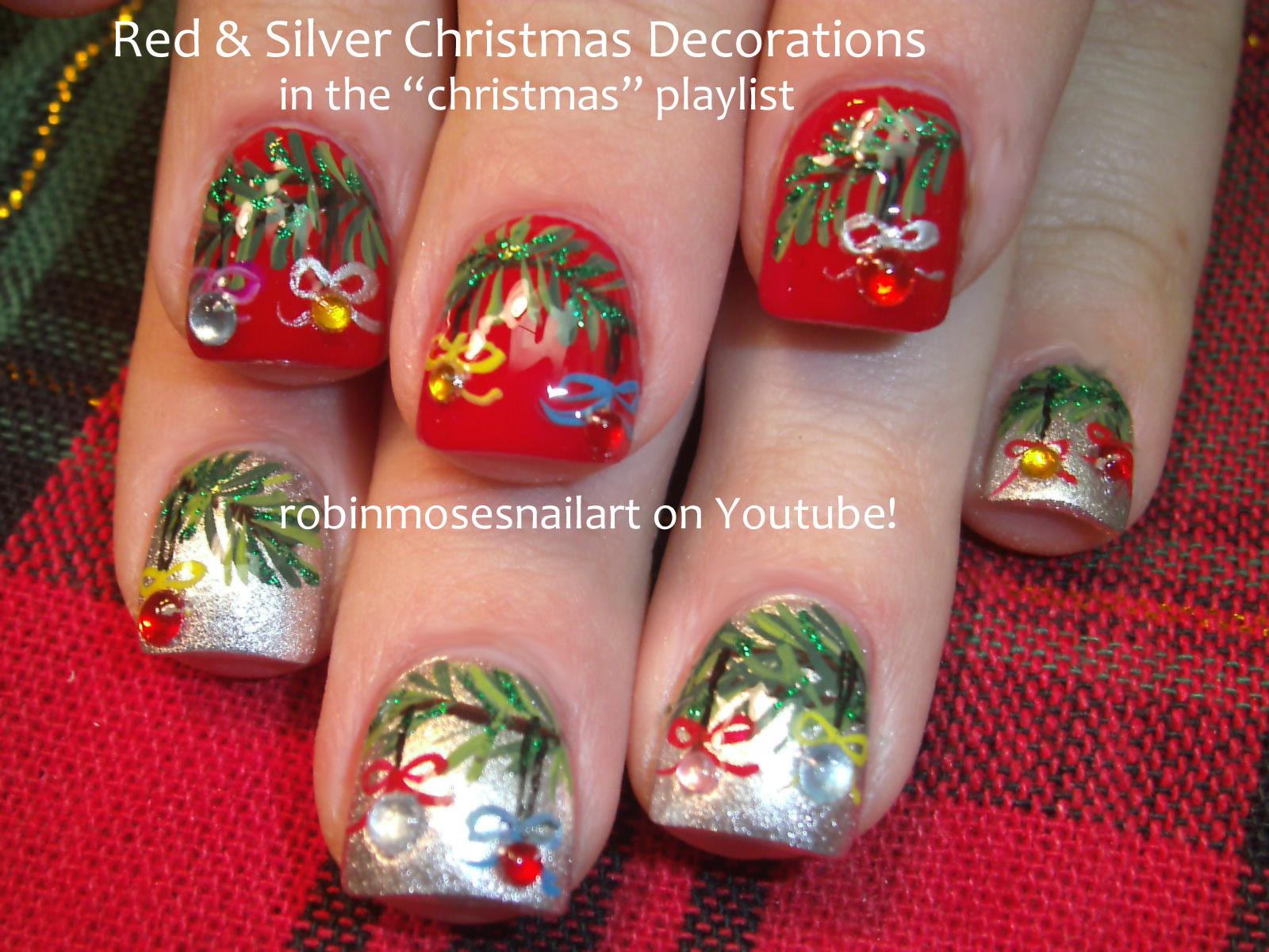 Nail Art By Robin Moses Nail Art Christmas Nails Christmas Nail
