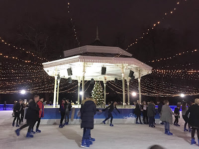 Ice skating at Hyde Park's Winter Wonderland