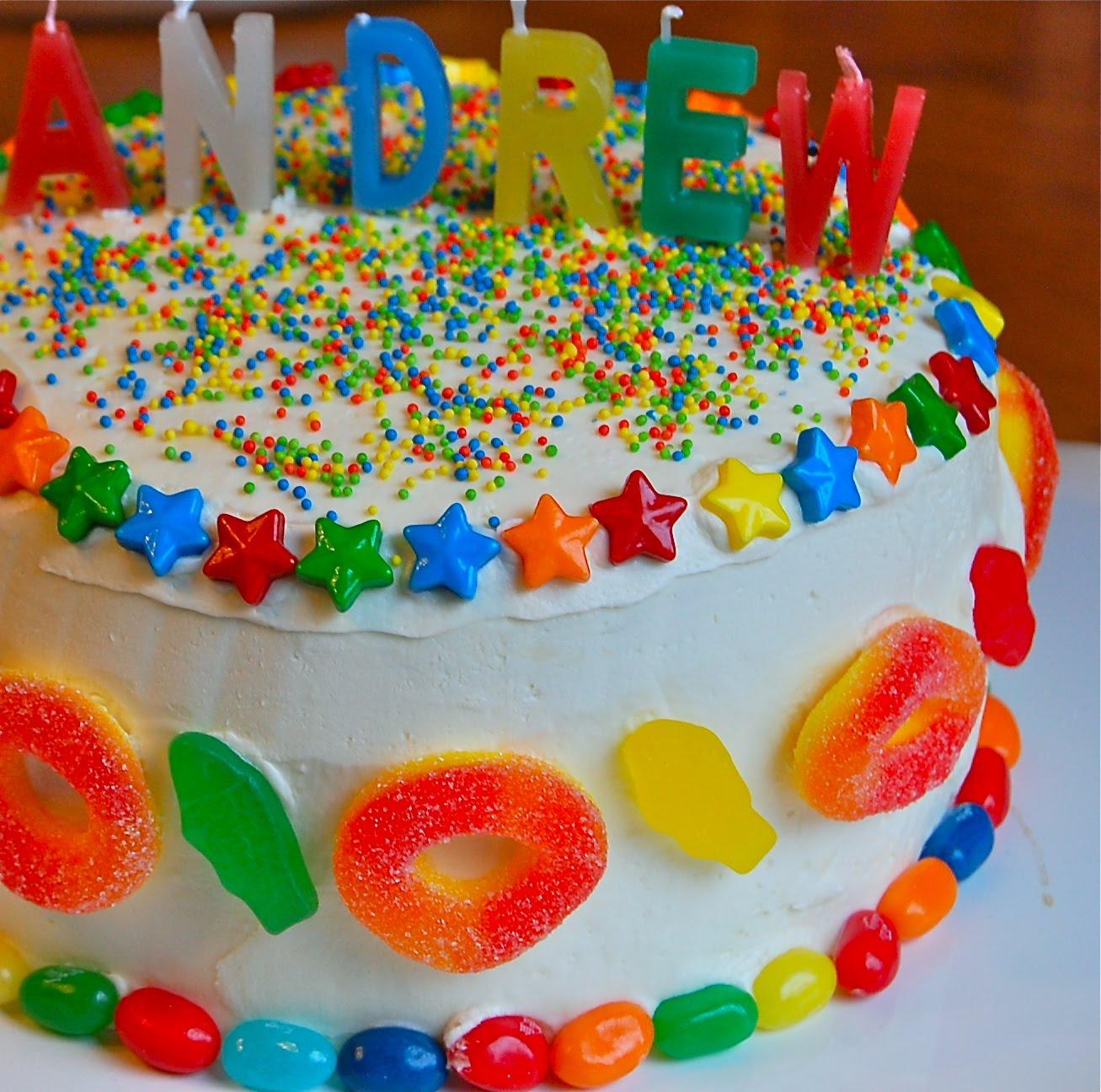 Chef Mommy Candy Birthday Cake