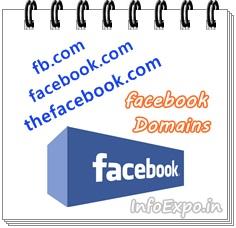 Domain names to acess facebook