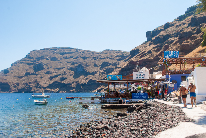 island hopping images in santorini greece