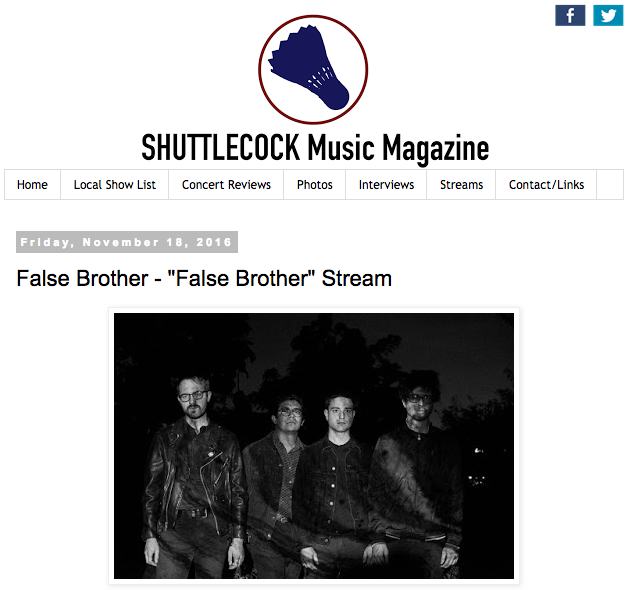 false brother album review on shuttlecock blog