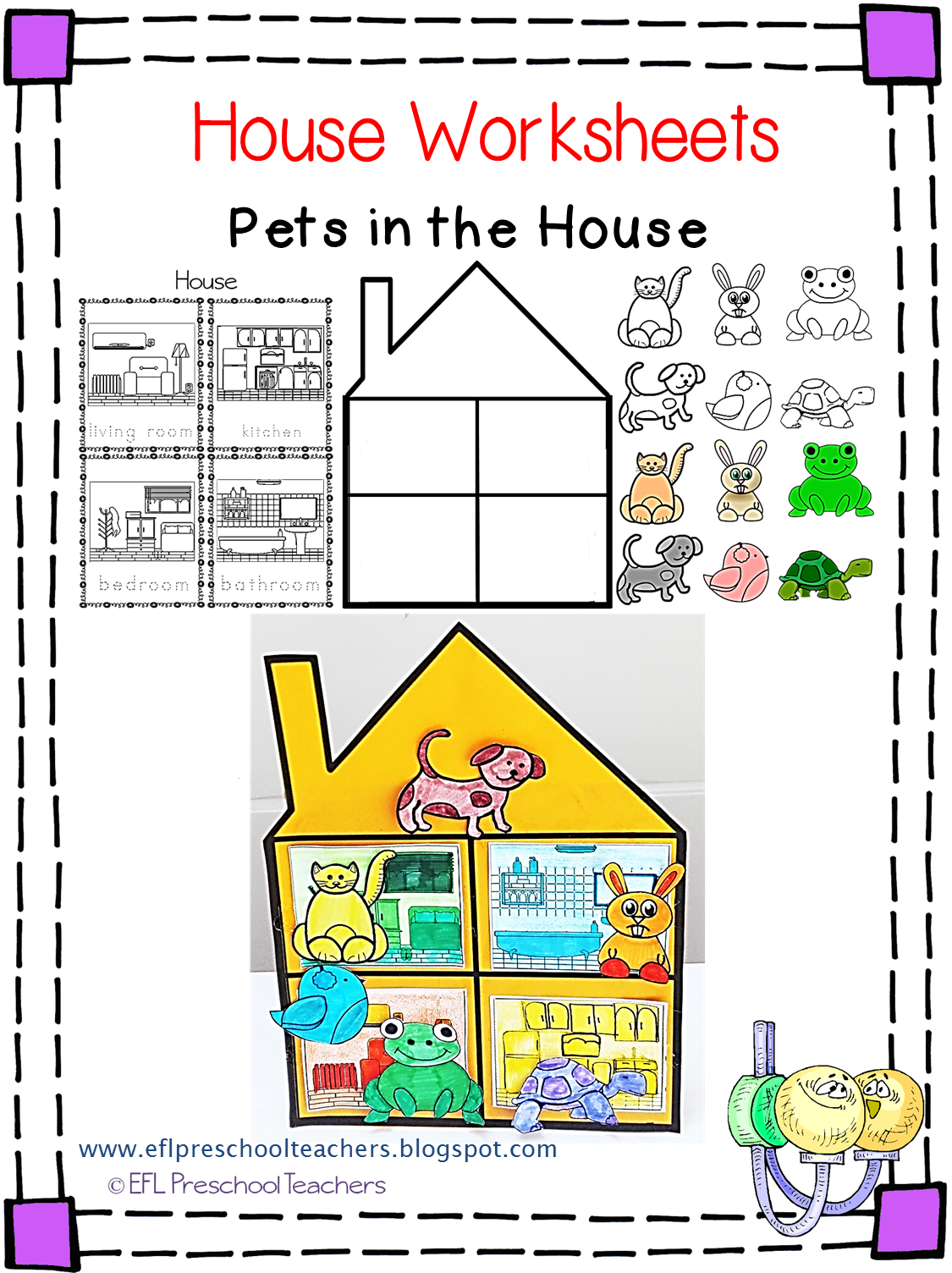 Esl Efl Preschool Teachers House Worksheets For The Preschool Ell