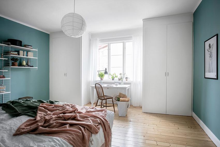 azul y blanco para pintar un dormitorio