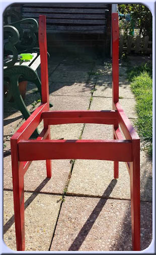 Lessons learnt on how to reupholster a chair - Spider-man style !