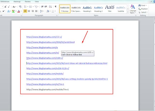 memperbaiki url error di webmaster tools