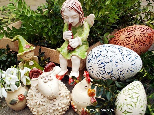 pisanki ceramiczne - z aniołami