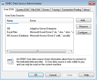 DSN SYBASE ASE ODBC WINDOWS VISTA DRIVER DOWNLOAD