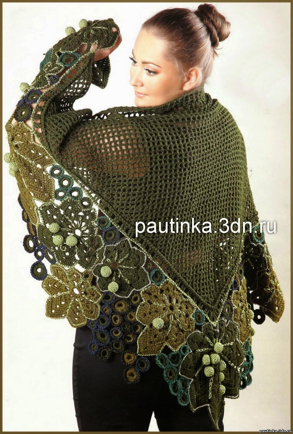 ergahandmade: Irish Crochet Lace Shawl + Diagrams