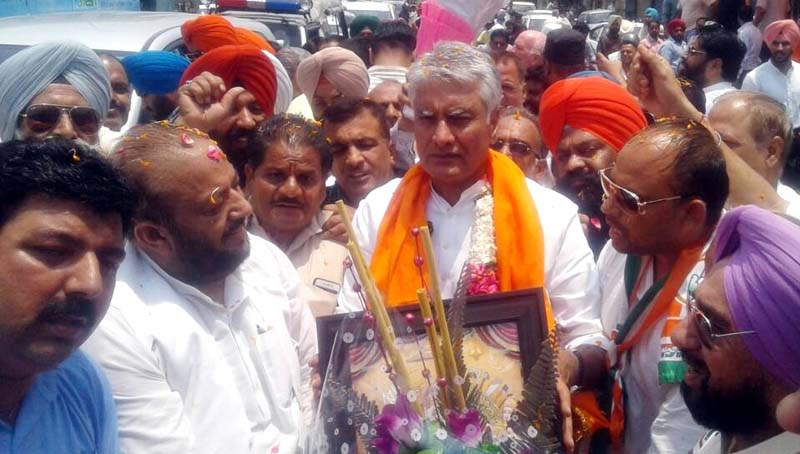 PPCC president Welcomed at Atam Nagar Constituency in Ludhiana