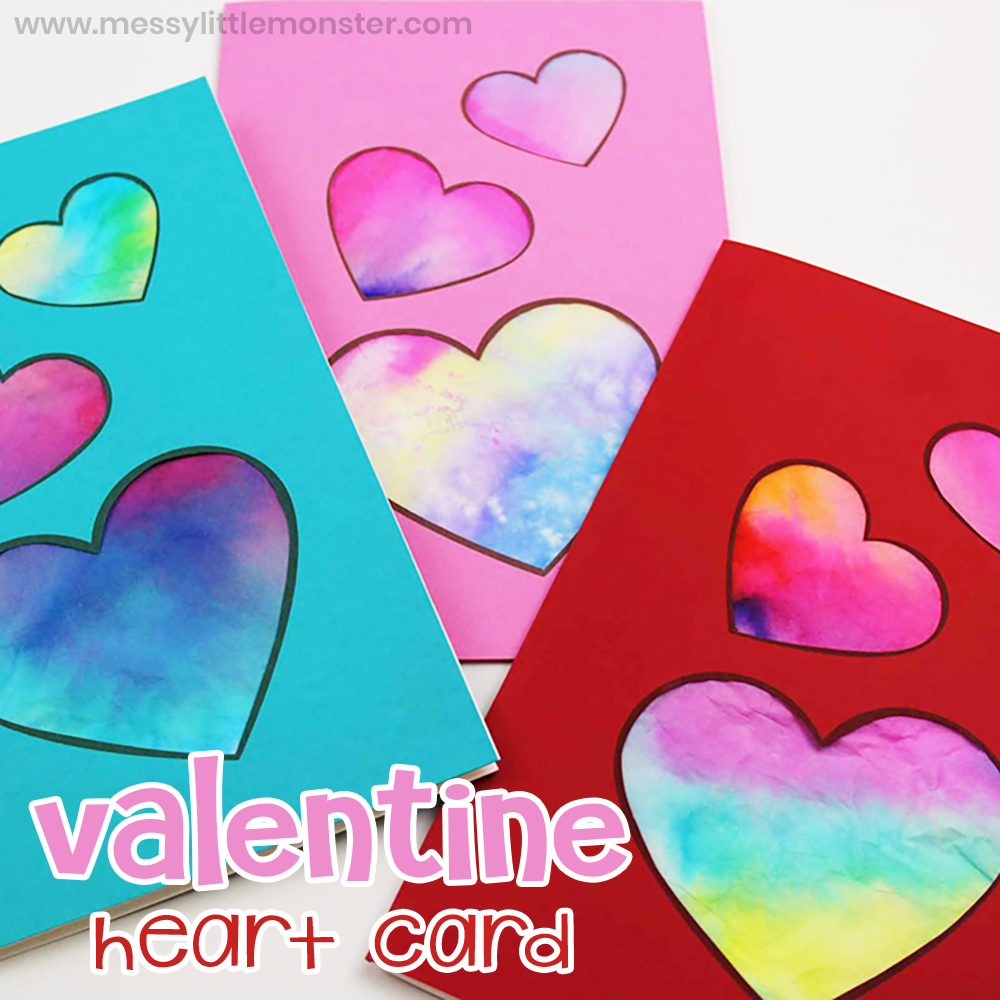 Valentine Heart Card - A fun heart craft for preschoolers