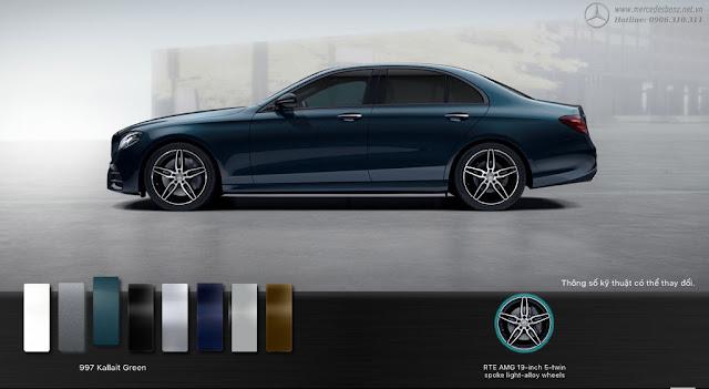 Mercedes E300 AMG 2017 nhập khẩu được thiết kế theo phong cách thể thao, sang trọng