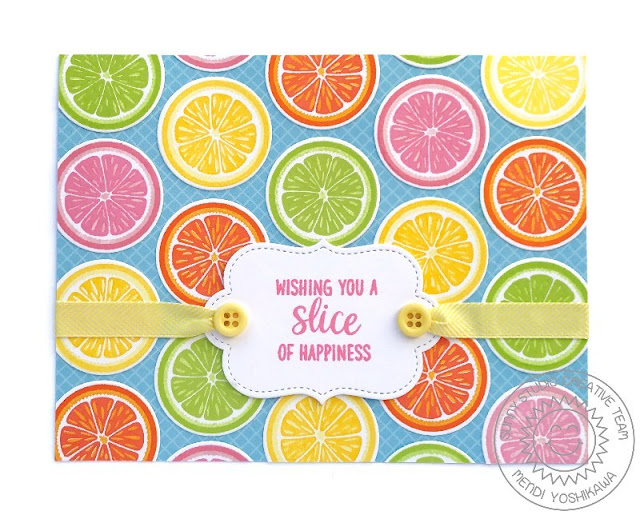 "Sunny Studio Stamps: Slice of Summer Orange, Lemon, Lime & Grapefruit ""Wishing You A Slice of Happiness"" Card"