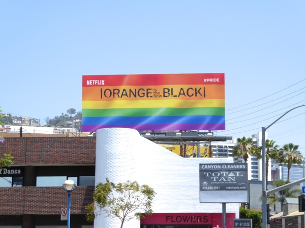 Orange is the New Black season 4 Pride billboard West Hollywood