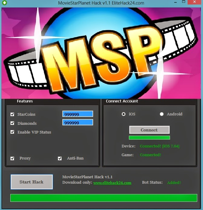 how to hack someone on movie star planet