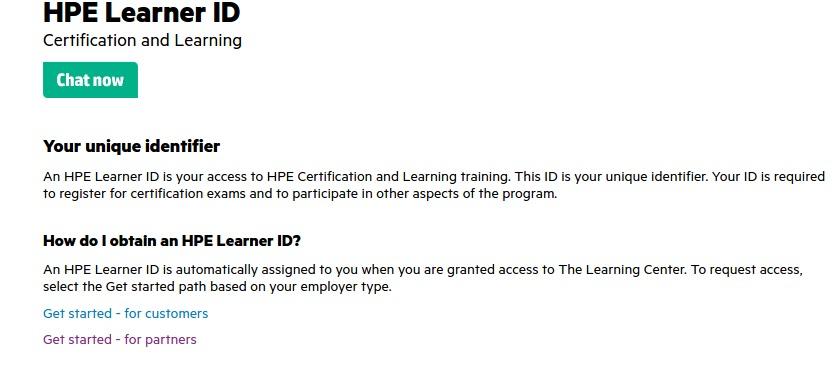 HPE Learner ID