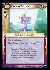 My Little Pony Castle of Friendship High Magic CCG Card